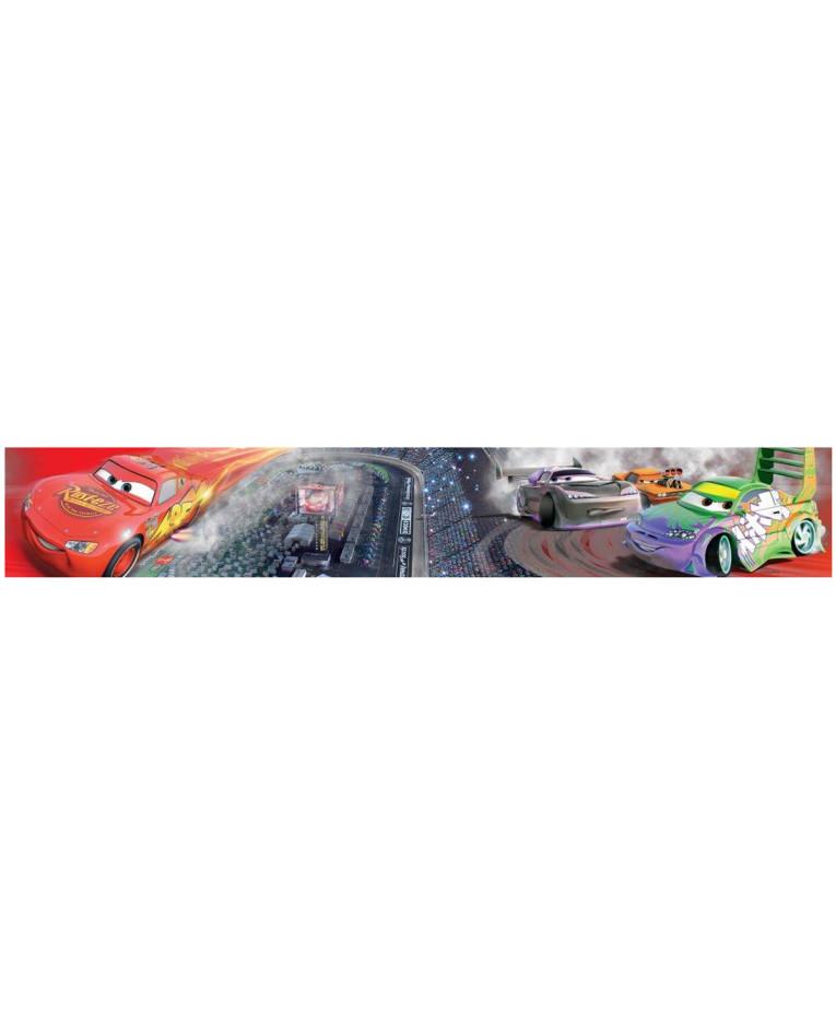 Zoom Away Vehicles Wallpaper Arthouse Cars Motorbike Boys: Disney Cars Race Track Self Adhesive Wallpaper Border 5m