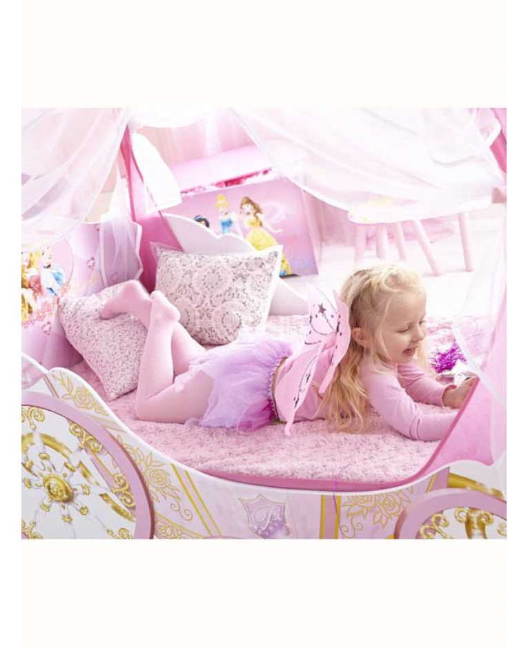 disney princess carriage toddler bed with storage. Black Bedroom Furniture Sets. Home Design Ideas