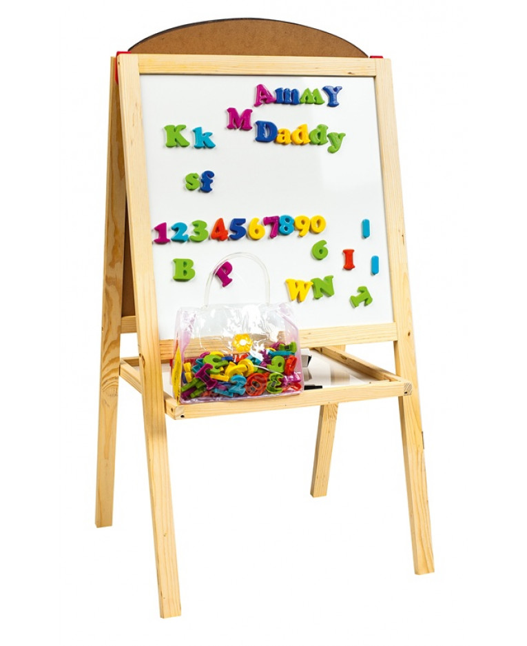 double sided black white board easel with magnetic letters With easel with magnetic letters