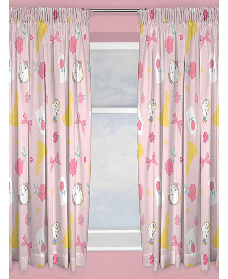 Disney Princess Beauty And The Beast Curtains 54 Drop