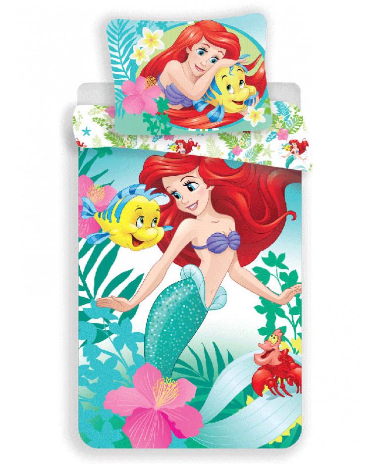 Disney Princess Ariel Single Cotton Duvet Cover And Pillowcase Set