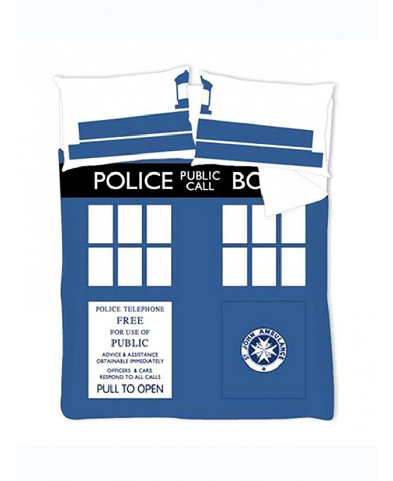 Doctor Who Tardis Double Duvet And Pillowcase Set Bedding