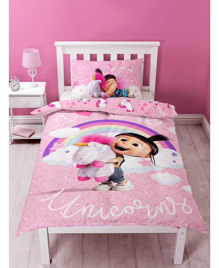 Despicable Me Daydream Fluffy Unicorn Single Panel Duvet