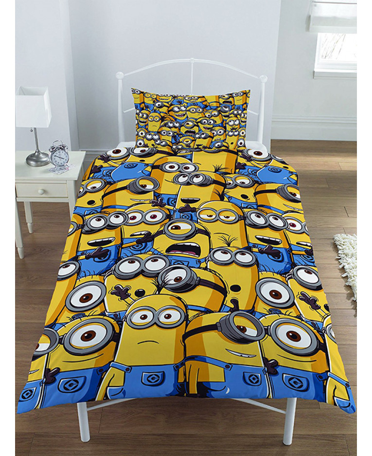 Despicable Me Minion Army Single Duvet Cover And Pillowcase Set Bedroom