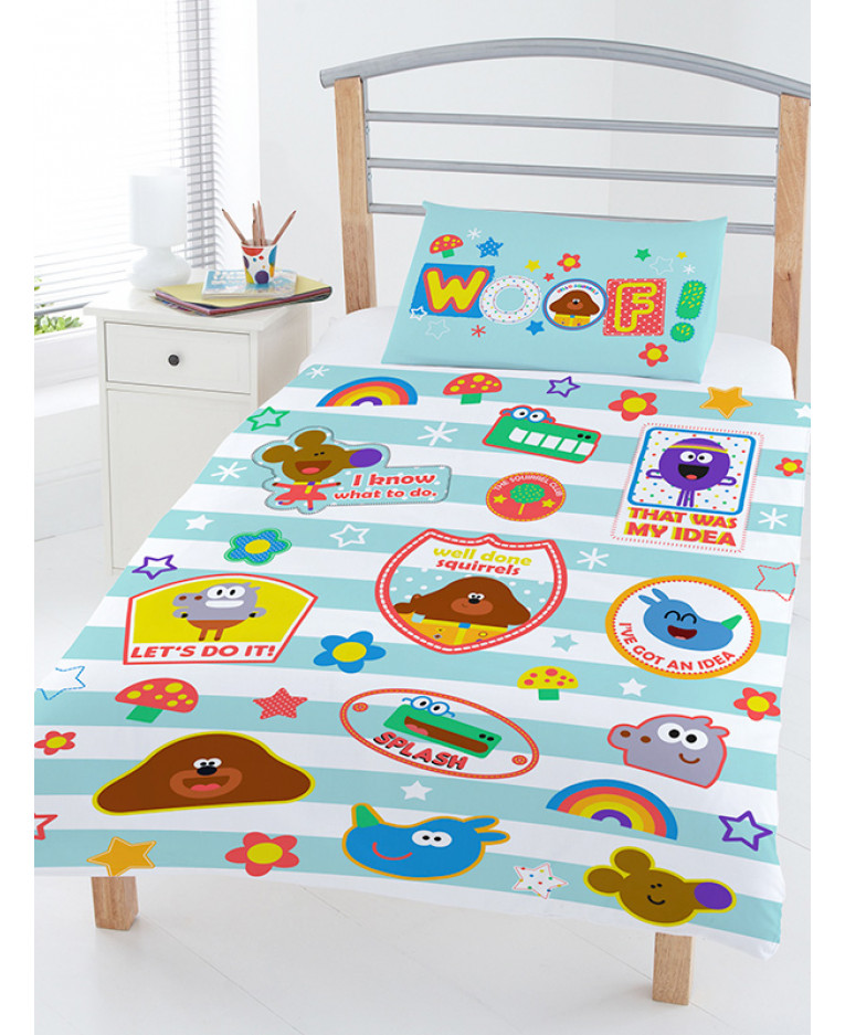 hey duggee woof junior toddler duvet cover pillowcase. Black Bedroom Furniture Sets. Home Design Ideas