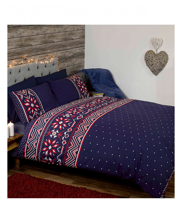 Nordic Christmas Double Duvet Cover and