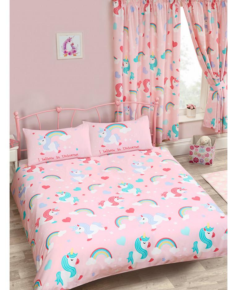 Unicorns Double Duvet Cover I Believe In Unicorns Bedding