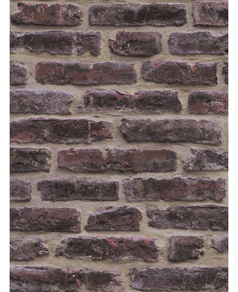 Rustic Brick Wallpaper Dark Red J34408