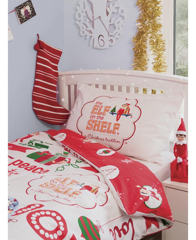 Elf On The Shelf 4 In 1 Junior Bedding Bundle Set Duvet