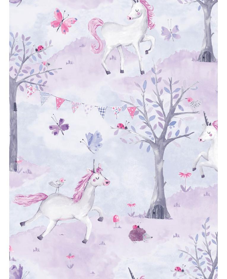 gdo016 grandeco eco unicorn wallpaper lilac p1