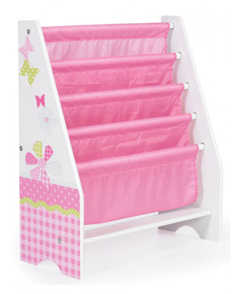 Dinosaurs Mdf Toy Box Childrens Storage Toys Games Books: Girls Pink Patchwork Sling Bookcase
