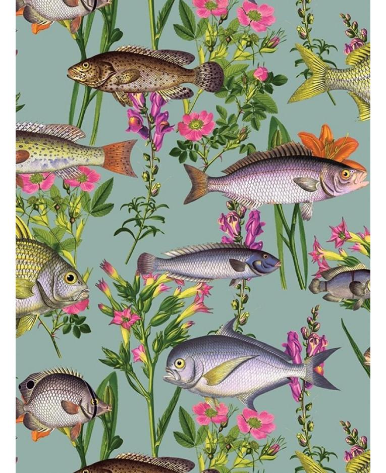 Holden Lagoon Fish Wallpaper Teal 12171 Feature