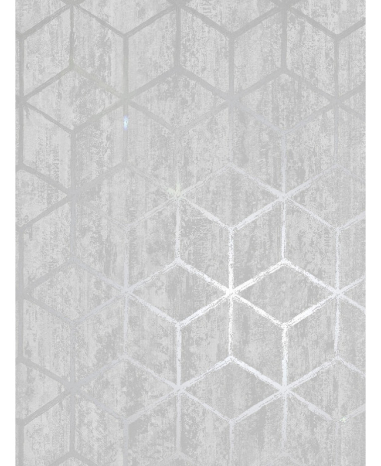 Rochester Geometric Wallpaper Silver Holden Decor 65200