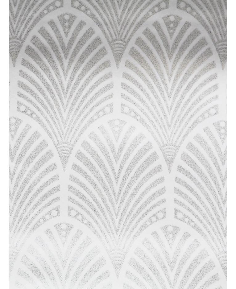 Gatsby Art Deco Glitter Wallpaper Dove Grey And White Holden Decor