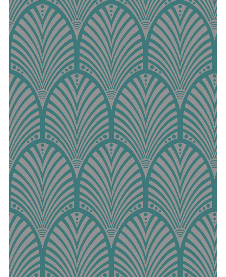 Gatsby Art Deco Wallpaper Teal Holden Decor 65253