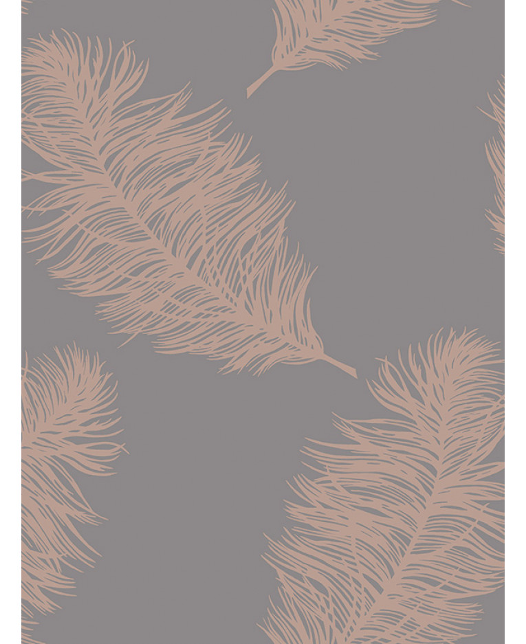 Fawning Feather Wallpaper Rose Gold Grey Holden 12629