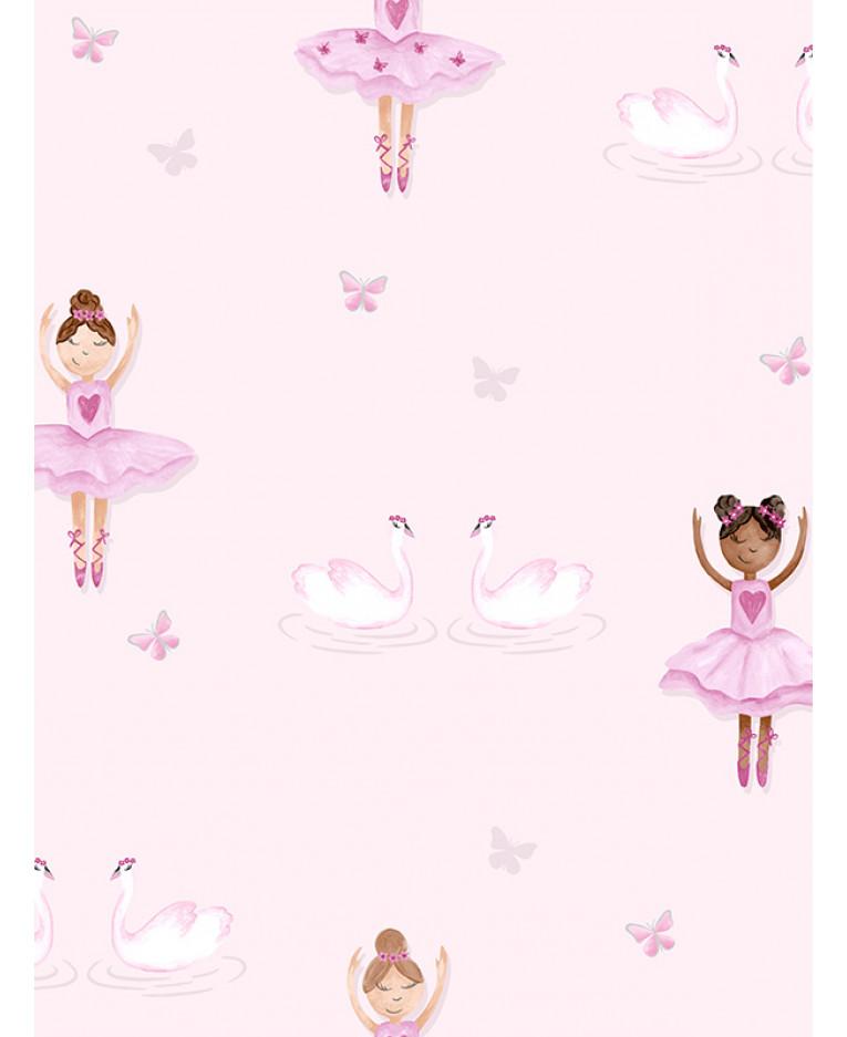 Ballerina Wallpaper Pink Holden 12460