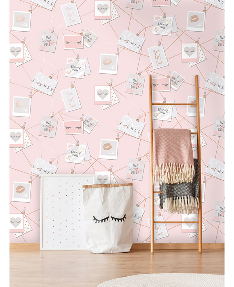 hld151 dream lashes wallpaper pink p3