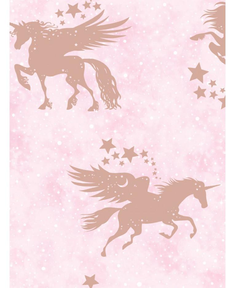 hld246 iridescent unicorns wallpaper pink p1