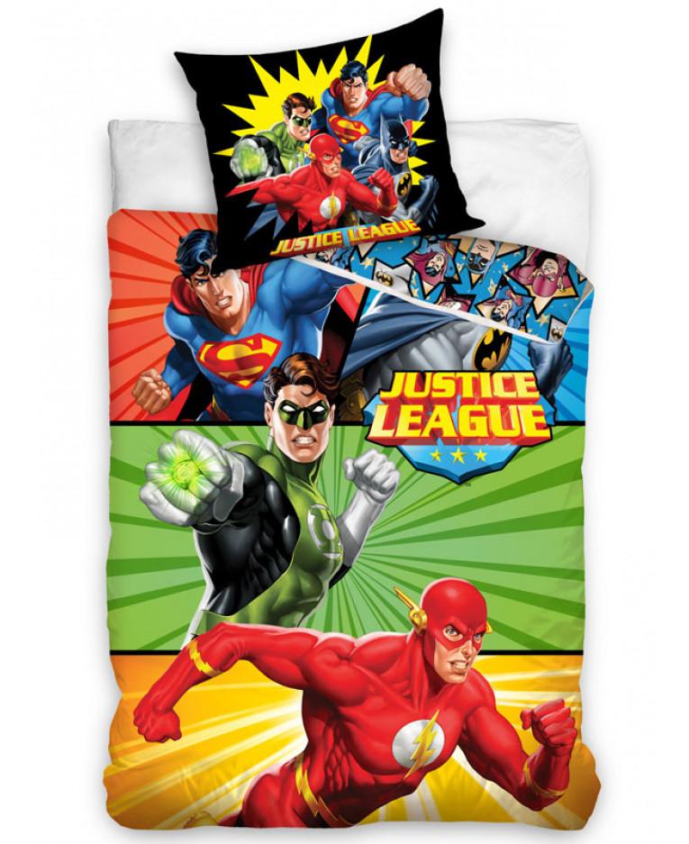 Copripiumino Superman.Set Copripiumino Singolo In Cotone Justice League Biancheria Da