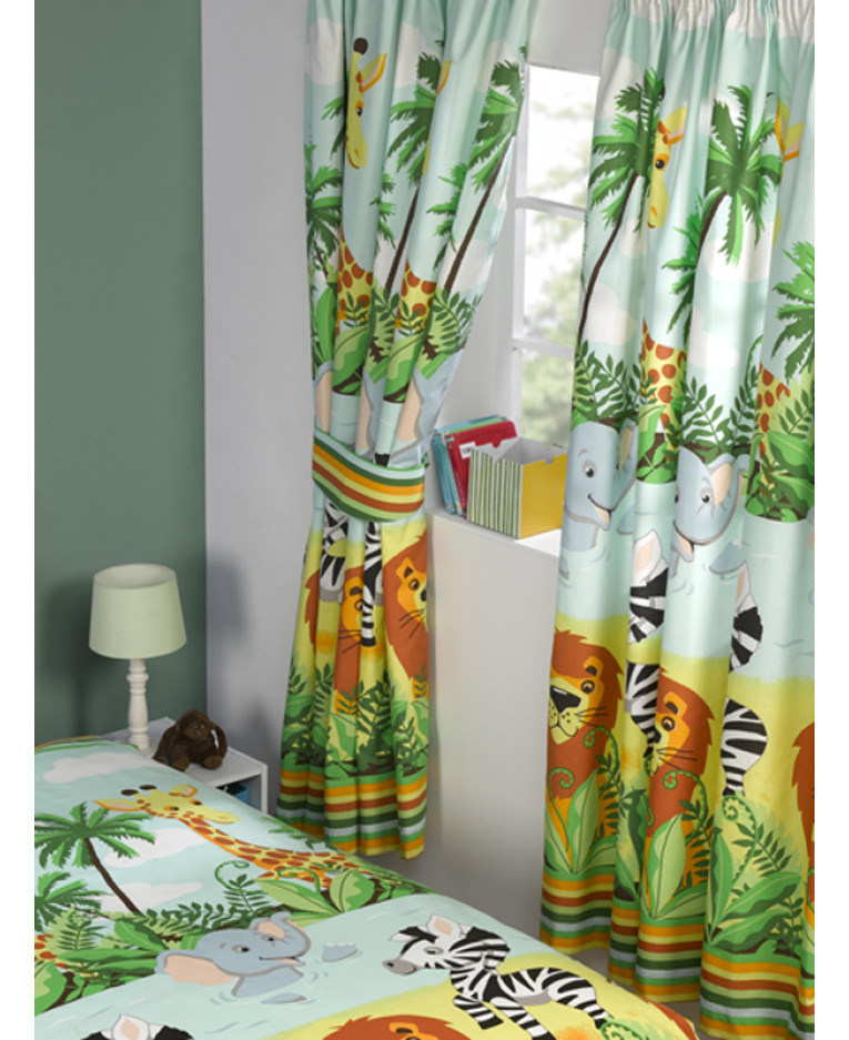 Great Jungle Tastic Lined Curtains