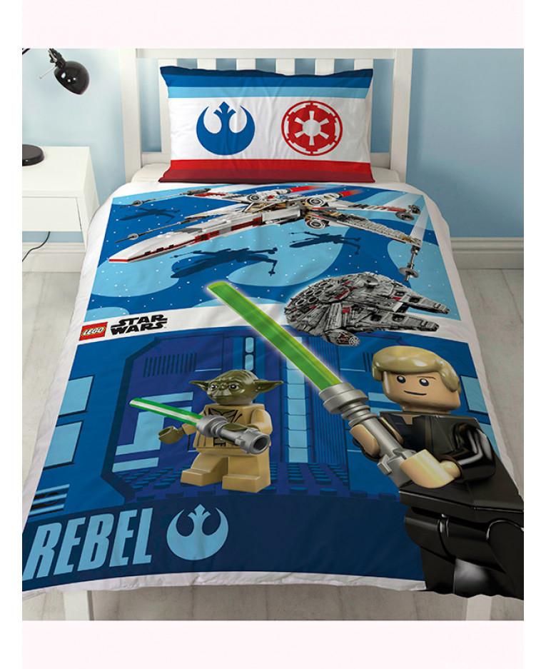 Copripiumino Star Wars.Copripiumino Singolo Lego Star Wars Battle Biancheria Da Letto