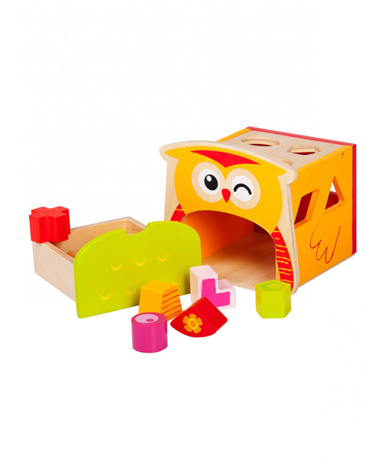 Price right home wooden owl shape sorter