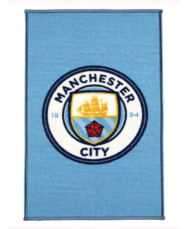 Manchester City Fc Crest Floor Rug Bedroom
