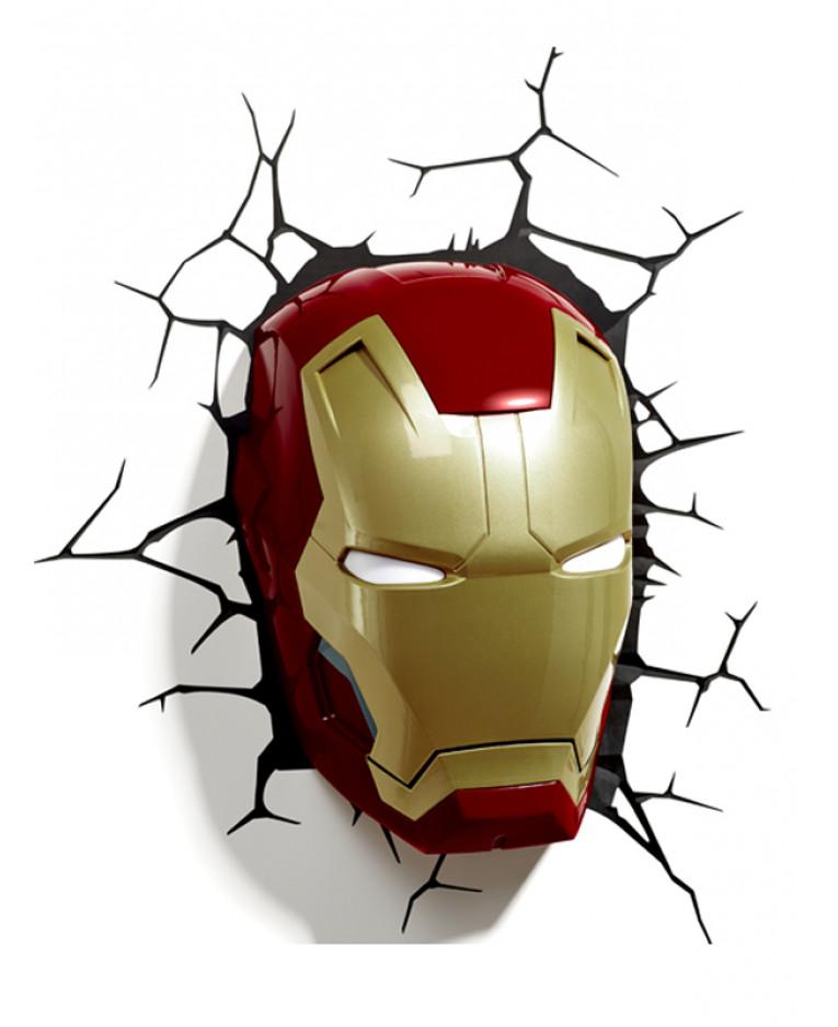 Wall Light Iron Man : Marvel Iron Man 3D LED Wall Light