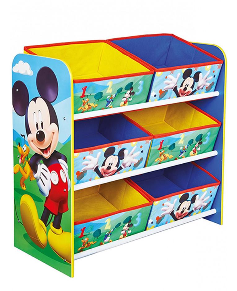 Dinosaurs Mdf Toy Box Childrens Storage Toys Games Books: Mickey Mouse 6 Bin Storage Unit