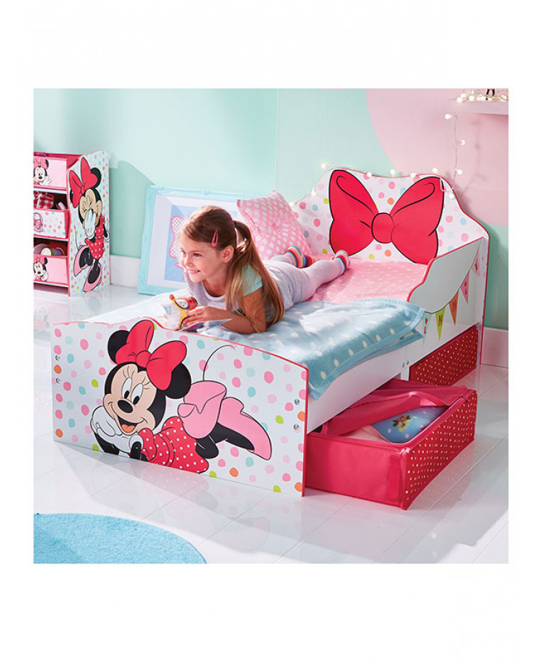 minnie mouse toddler bed with storage. Black Bedroom Furniture Sets. Home Design Ideas