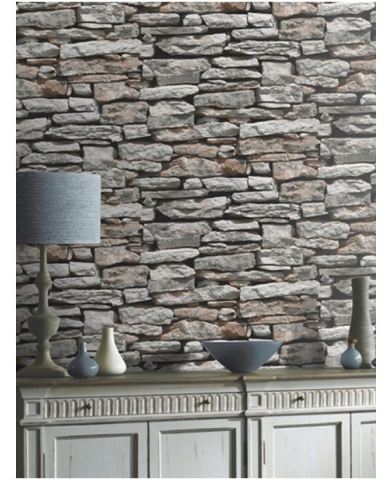 Natural Stone Art : Moroccan wall natural slate stone wallpaper arthouse