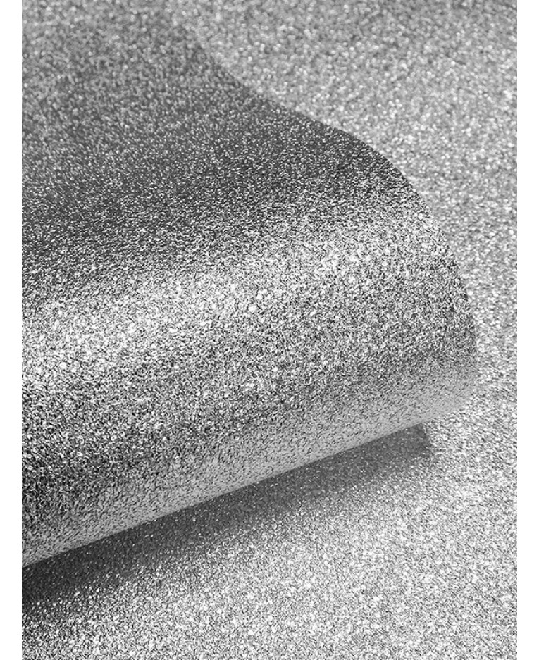 Textured Sparkle Glitter Effect Wallpaper Silver
