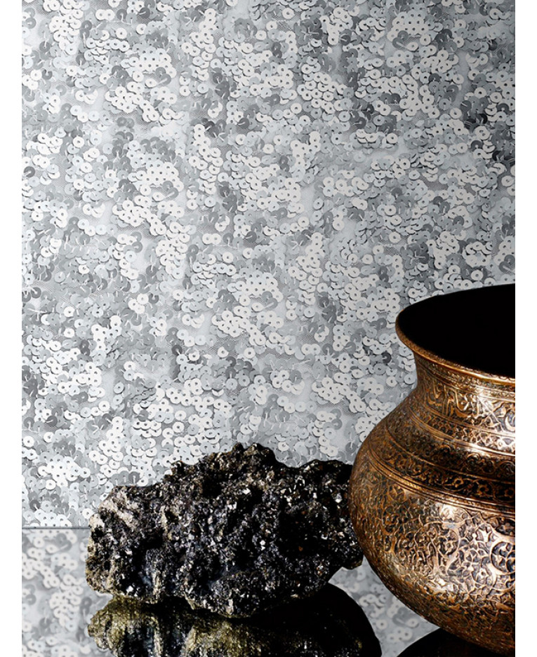 muriva lipsy sequins wallpaper silver 144001 feature