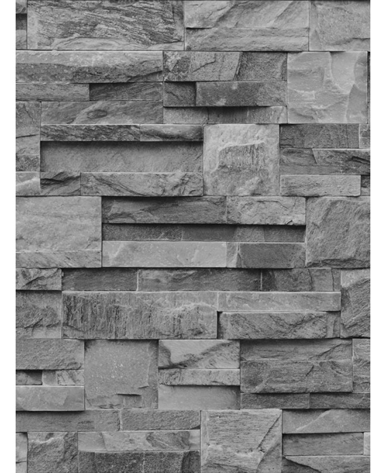 muriva slate stone wallpaper charcoal j274 09