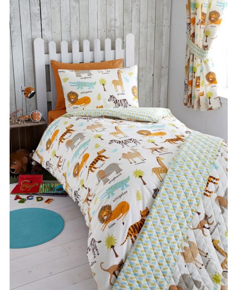 Safari Animals 4 Piece Junior Bedding Set Price Right Home