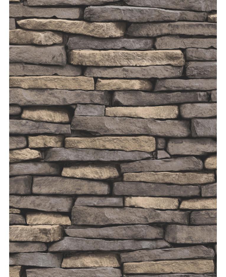 Natural Slate Stone Effect Wallpaper Fine Decor