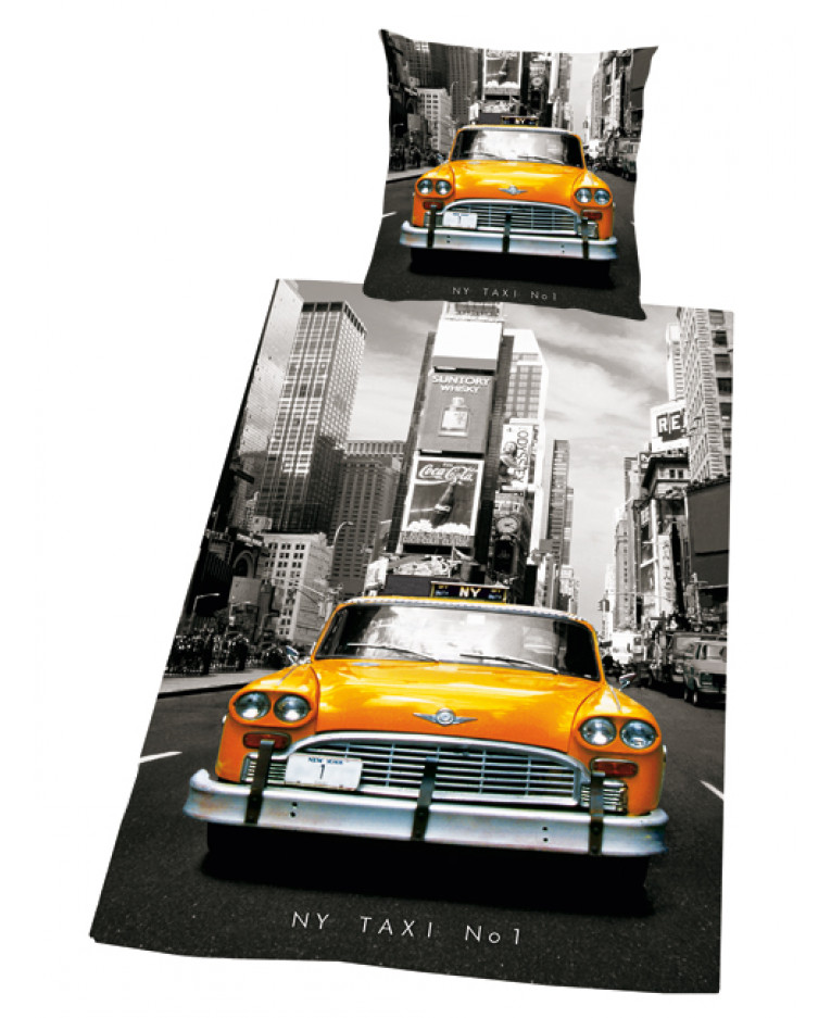 New York City Taxi Cab Duvet Cover Amp Pillowcase Set