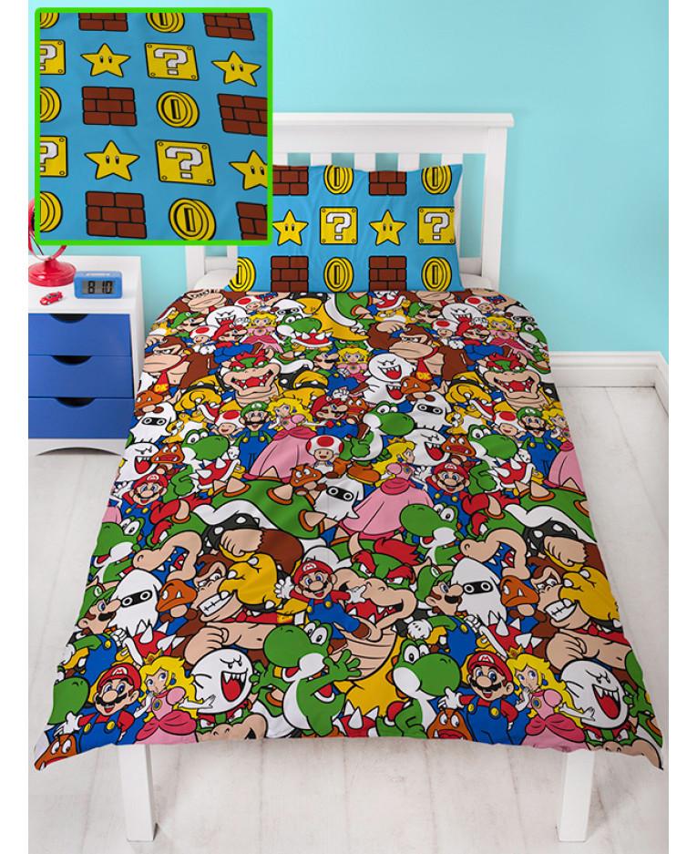 Nintendo Super Mario Gang Single Duvet, Super Mario Bros Full Size Bedding