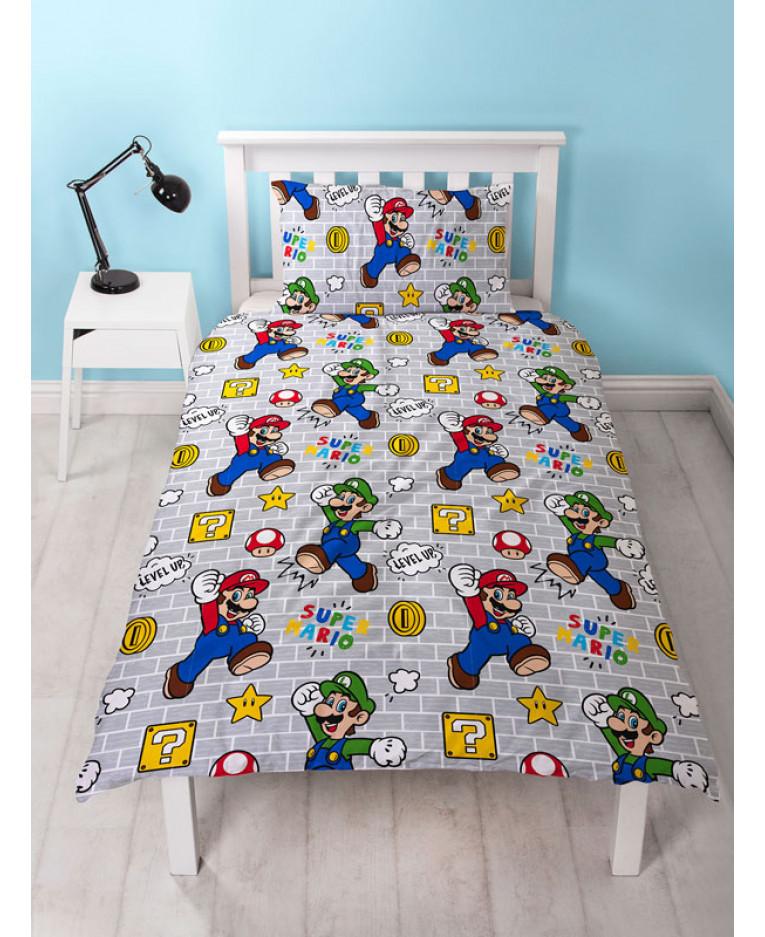 Nintendo Super Mario Stack Single Duvet, Super Mario Bros Full Size Bedding