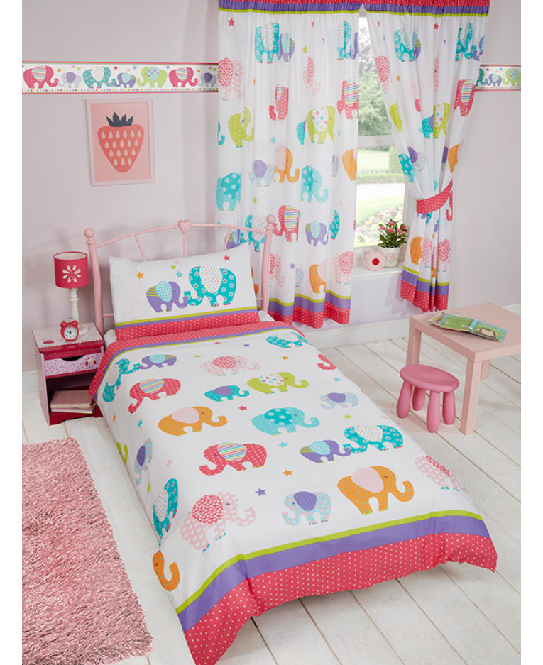 Patchwork Elephant Wallpaper Border Price Right Home