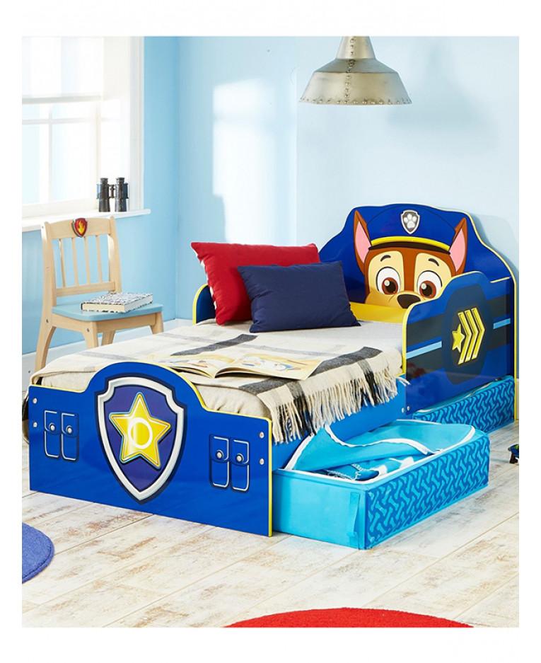 Baby Bedroom Furniture Nz Bedroom Storage Cupboards Bedroom Wallpaper Hd Male Bedroom Paint Ideas: Paw Patrol Chase Toddler Bed - Foam & Storage