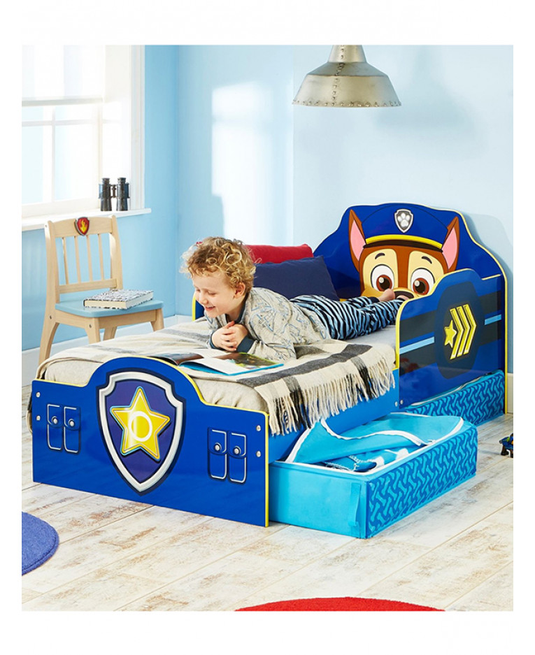 Paw Patrol Chase Toddler Bed with Storage | Bedroom