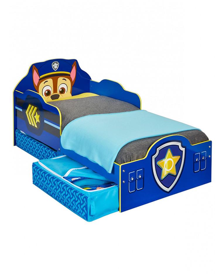 Paw Patrol Chase Toddler Bed - Foam & Storage | Price ...