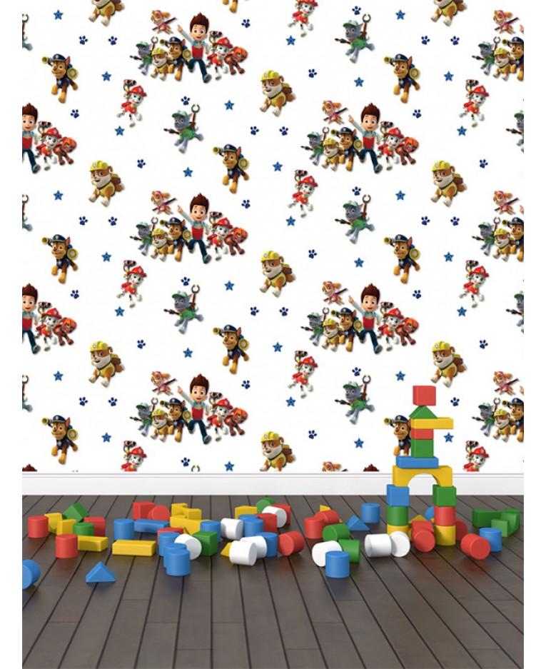 paw patrol wallpaper kids bedroom decor