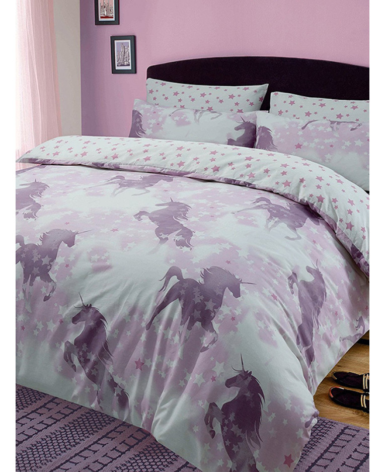 Unicorn dreams king size duvet cover and pillowcase set for Blankets king size bed