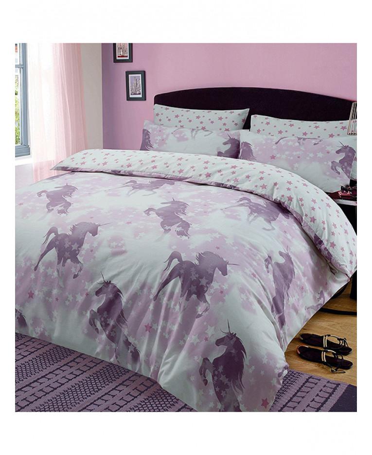 Unicorn Dreams Reversible King Size Duvet Cover Set