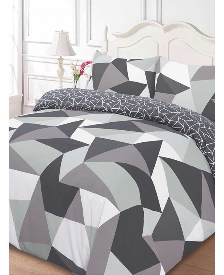 Shapes Geometric King Size Duvet Cover And Pillowcase Set