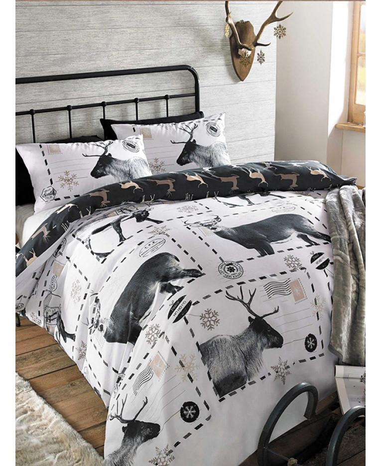 Reindeer Christmas Single Duvet Cover Set Bedding
