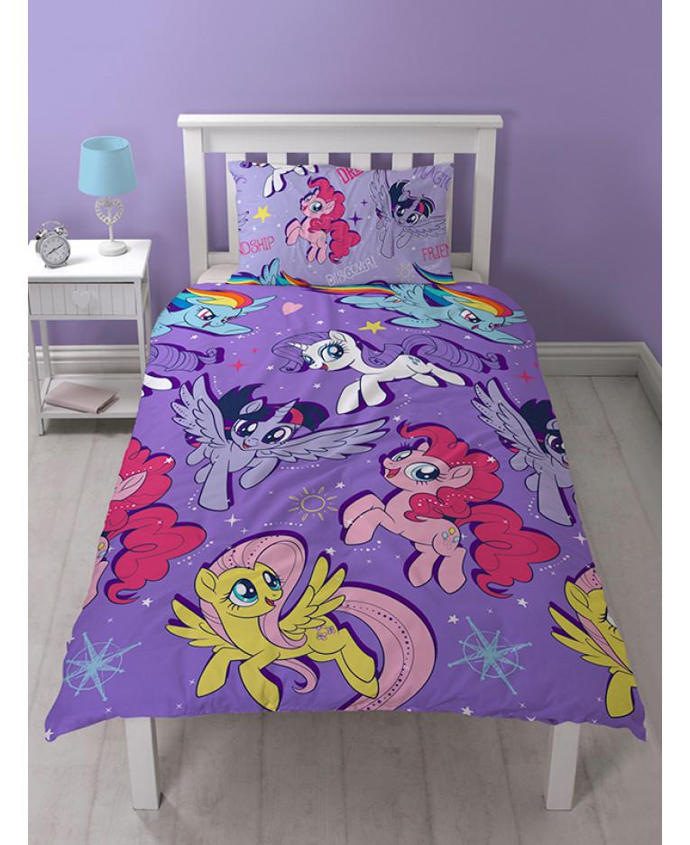 Copripiumino My Little Pony.My Little Pony Set Copripiumino Singolo Film Rotary Design